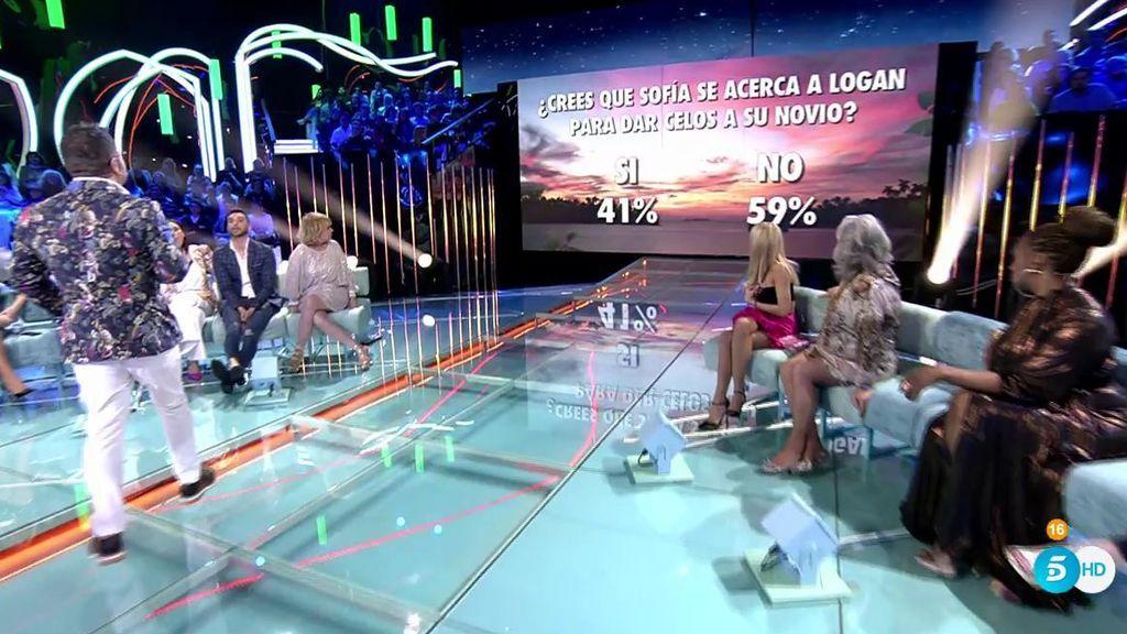 La audiencia, a través de la web, no cree que Sofía se acerque a Logan para dar celos a Alejandro Albalá