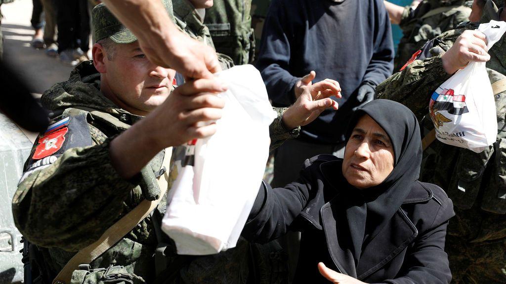 Ayuda humanitaria durante la guerra