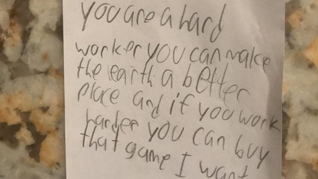 El inesperado final en la carta de un niño a su padre