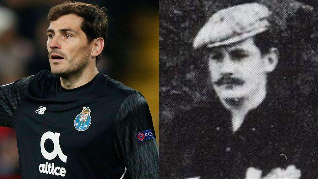 El increíble parecido de Casillas con un portero de 1901 que ha hecho alucinar al portero