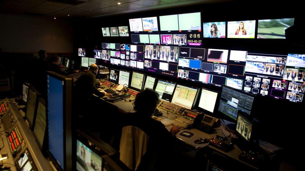 Control de informativos de Mediaset España.