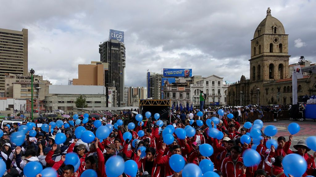 Manifestación de estudiantes en Bolivia