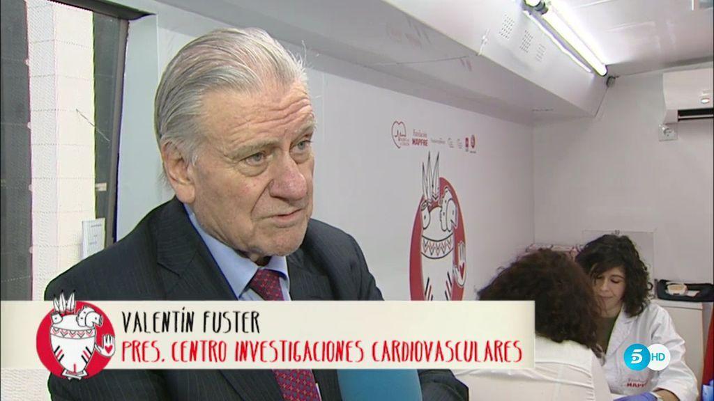 Mediaset España estrena el autobús del corazón sano con el Dr. Valentín Fuster