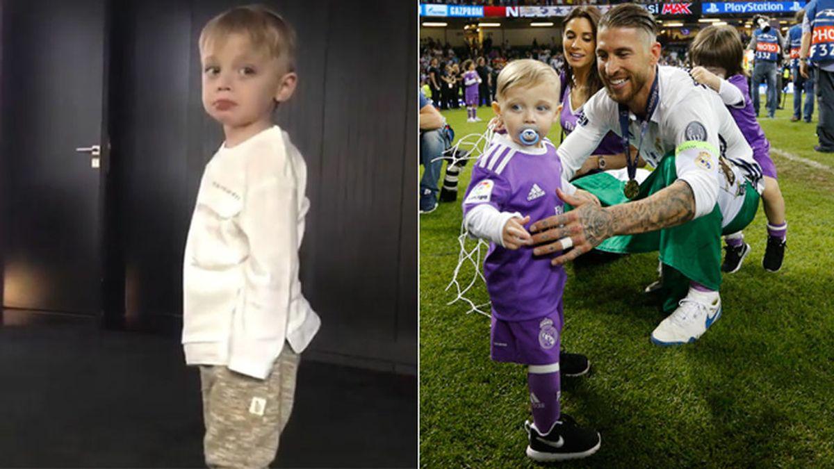 """La 'regañina' de Sergio Ramos a su hijo pequeño: """"¿Por qué estás rallao? ¿Por qué te ha reñido papá?"""""""