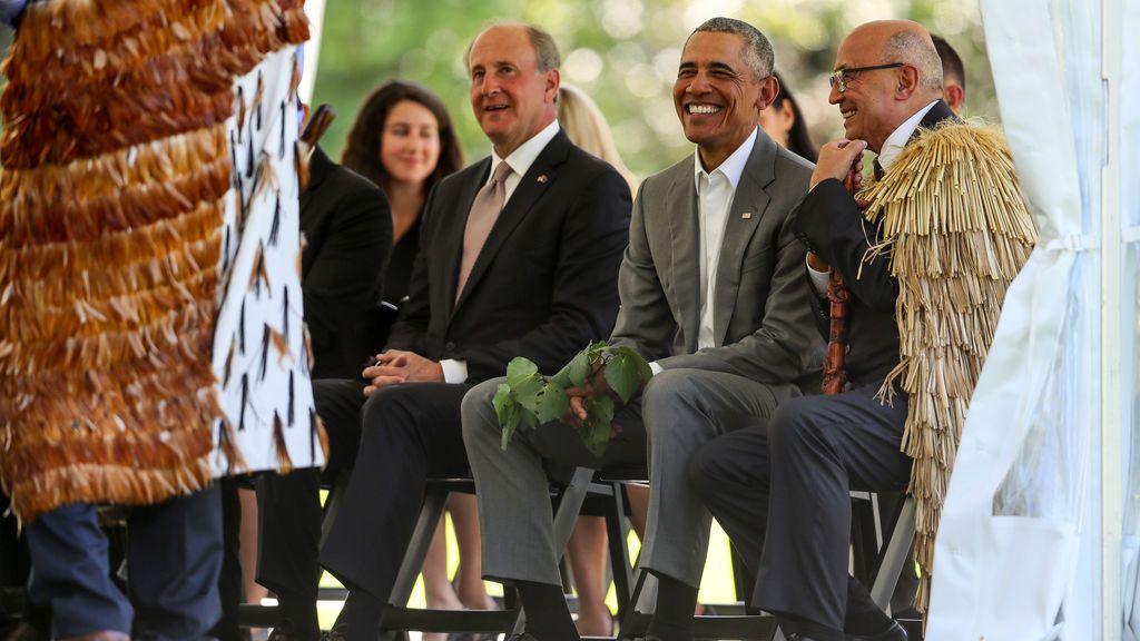 Obama visita Nueva Zelanda