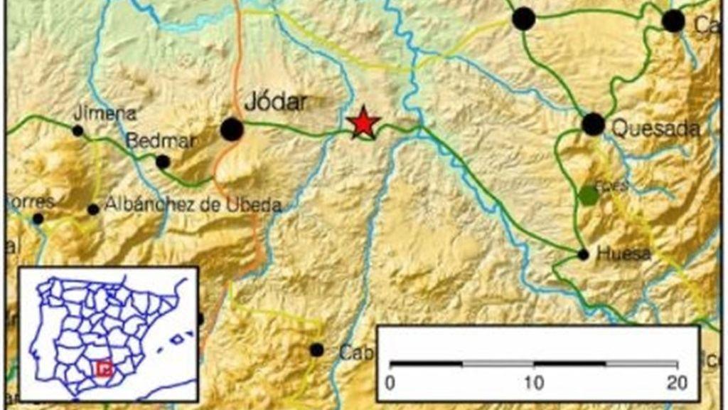 Registrado en Jódar (Jaén) un terremoto de cuatro grados que no ha causado daños