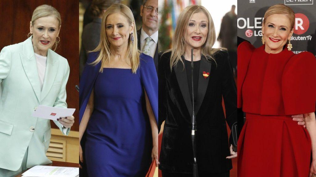 Máster en estilo: aprobados y suspensos de los looks de Cristina Cifuentes