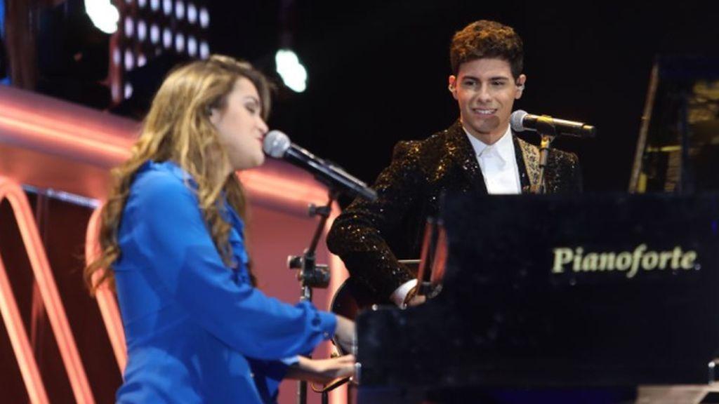 Amaia y Alfred, en los últimos premios de Cadena Dial.