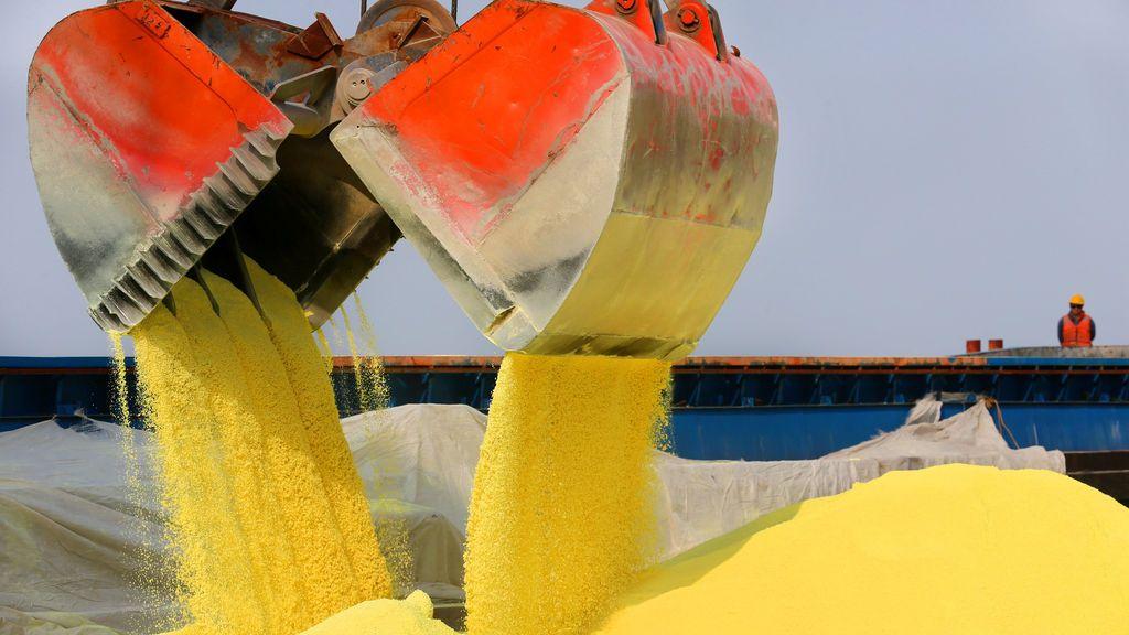 Importación de azufre en China