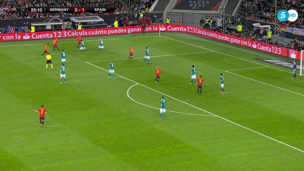 El espectacular rondo de España que recordó al mejor 'tiki-taka' de la selección