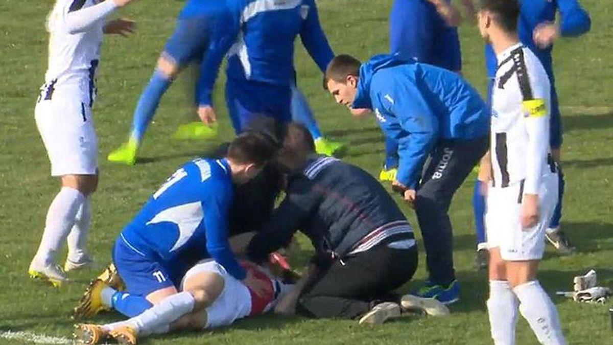 Un jugador de 25 años muere en pleno partido en Croacia