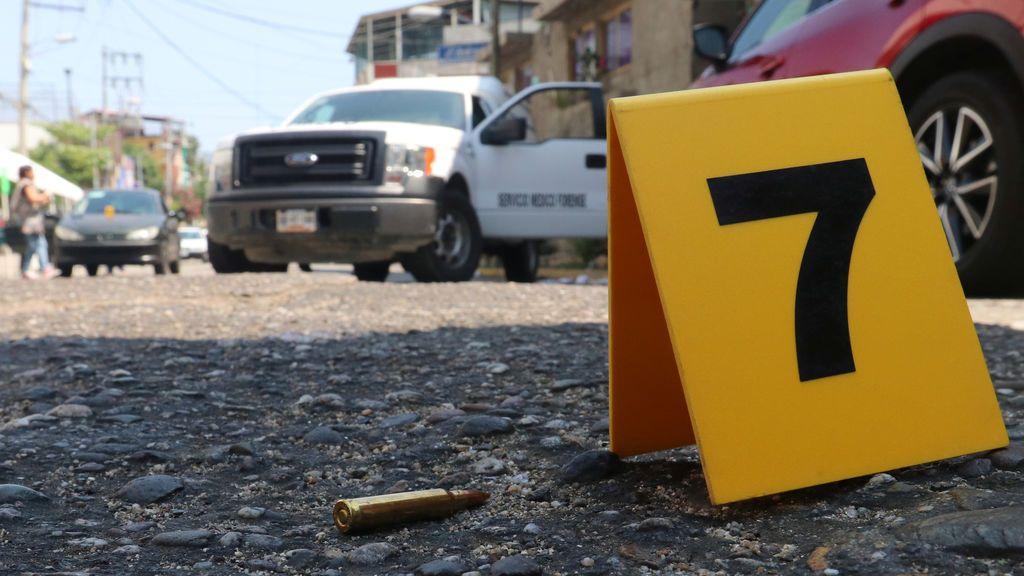 Escena de un crimen en México