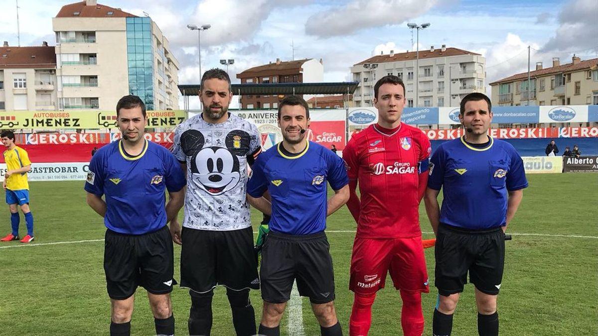 La camiseta del portero del Calasancio de la Tercera División que se ha hecho viral