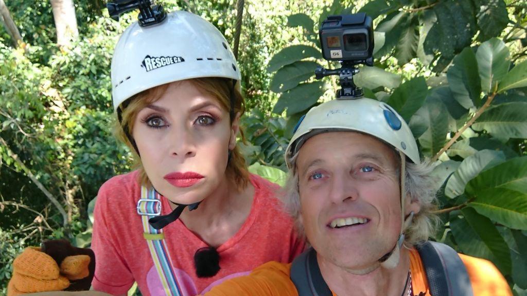 Ágatha Ruiz de la Prada y Jesús Calleja, en Costa Rica.