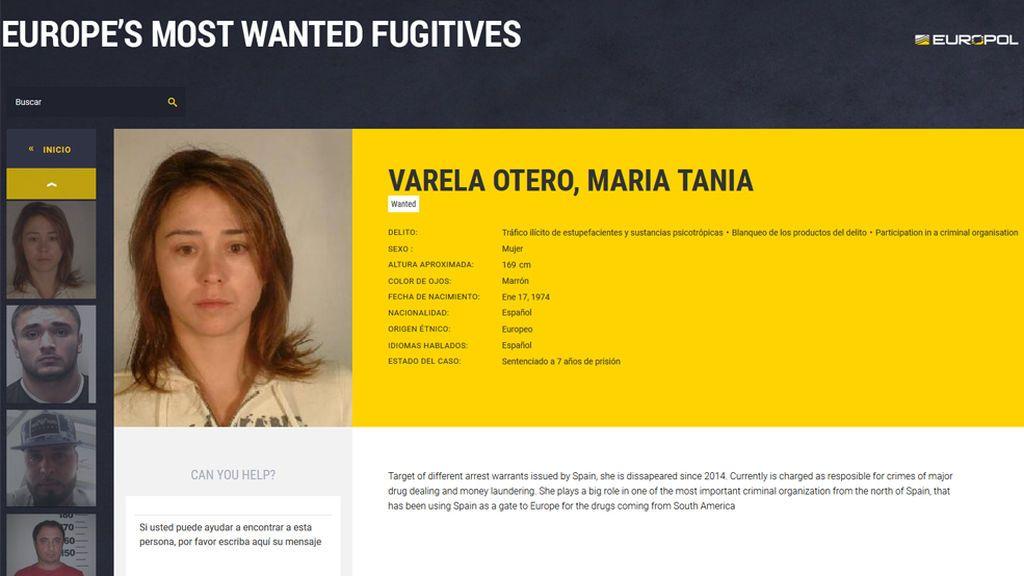 Detienen a la gallega Tania Varela, la narcotraficante más buscada por la Europol