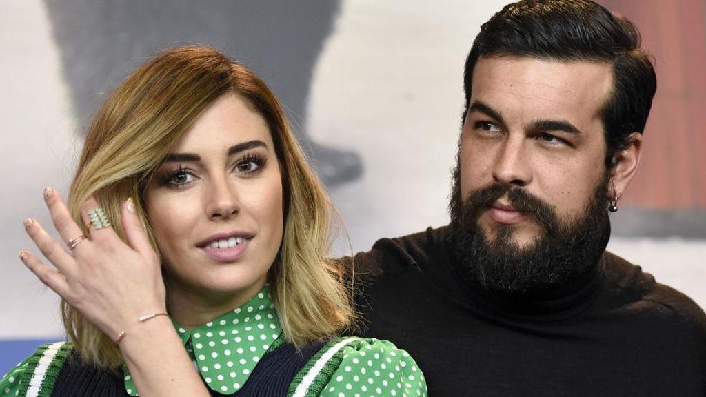 Blanca Suárez y Mario Casas, en la presentación de la película 'El bar' en la Berlinale de febrero de 2017.