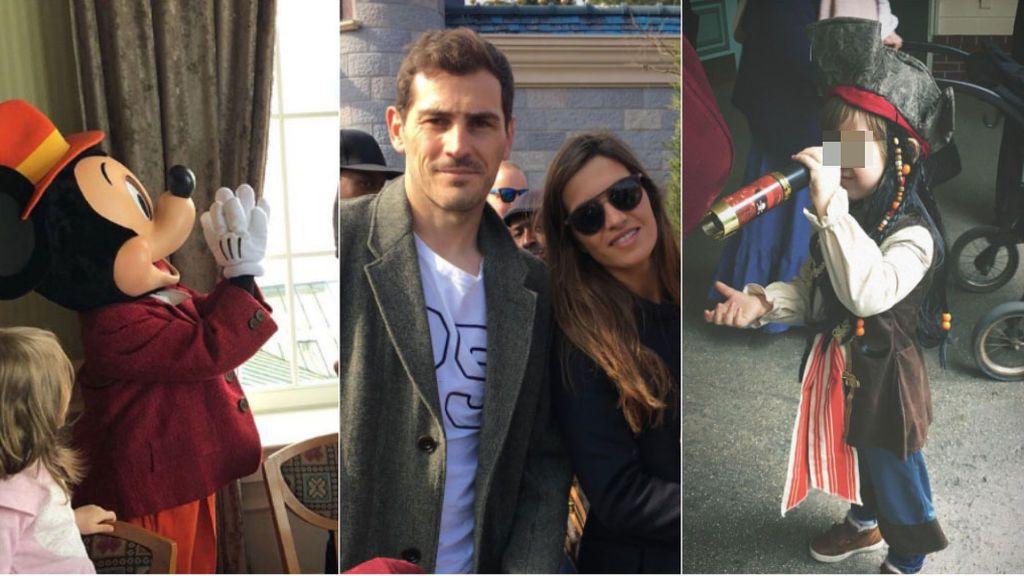 """¡Hasta han desayunado con Mickey Mouse! El """"día mágico"""" de los Casillas-Carbonero en DisneyLand París"""