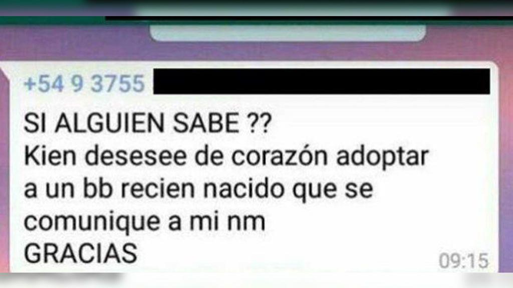 Una menor embarazada ofrece en adopción a su bebé en un grupo de WhatsApp