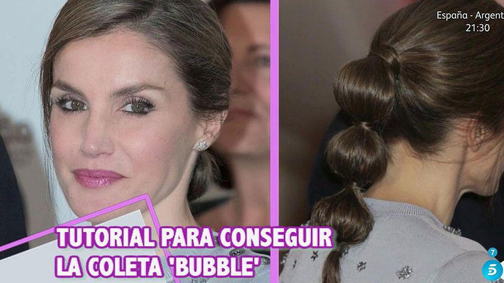 Tutorial 'Cámbiame': La coleta Bubble de la Reina Letizia