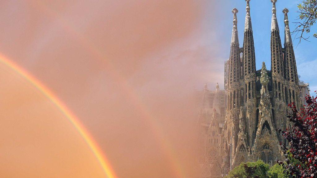 En fotos: el doble arco iris de Barcelona del que todo el mundo habla