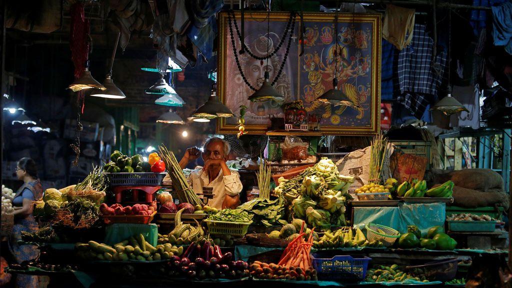 Tradicional mercado indio