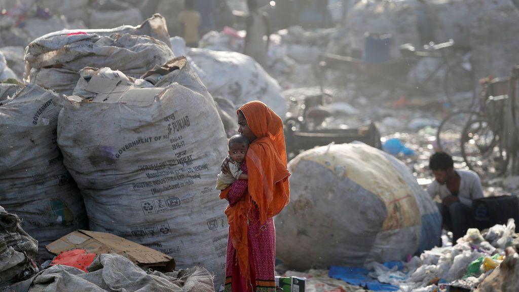 Vertedero de basura en India