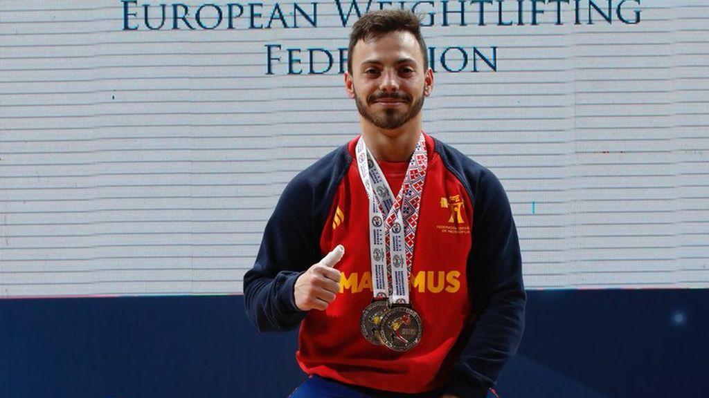 Josué Brachi se proclama campeón de Europa de halterfofilia en la categoría de 56 kilos
