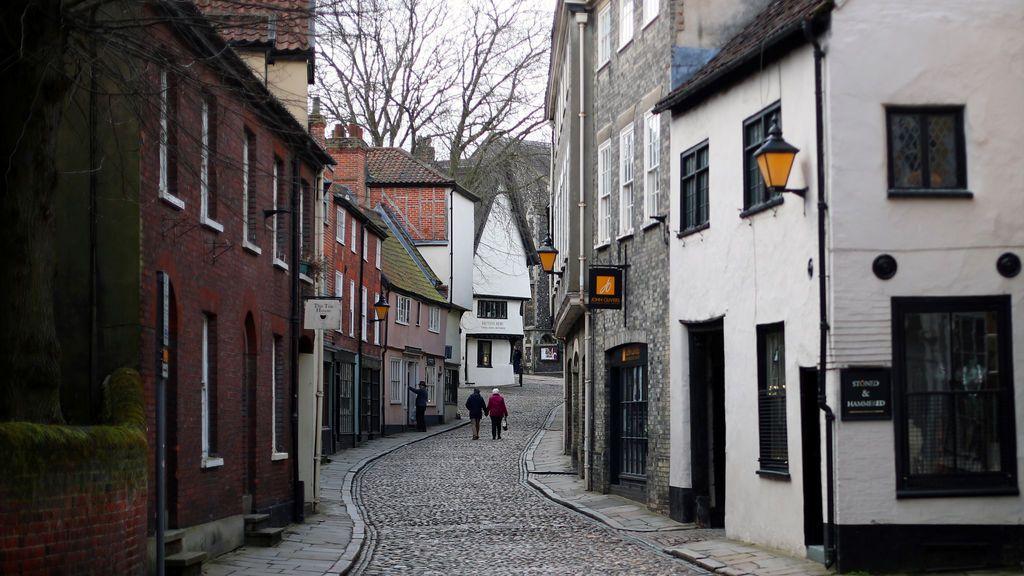 Preciosa imagen de la vida cotidiana en Norwich