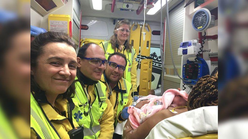 Una mujer de 38 años da a luz a su primera niña en el arcén de la M-30