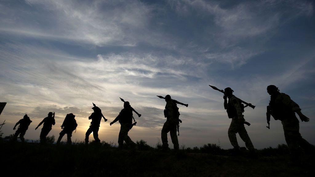 Ejercicio militar yihadista en Gaza