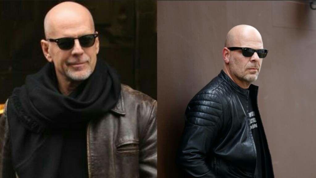 El 'doble' de Bruce Willis causa sensación en Santiago de Chile