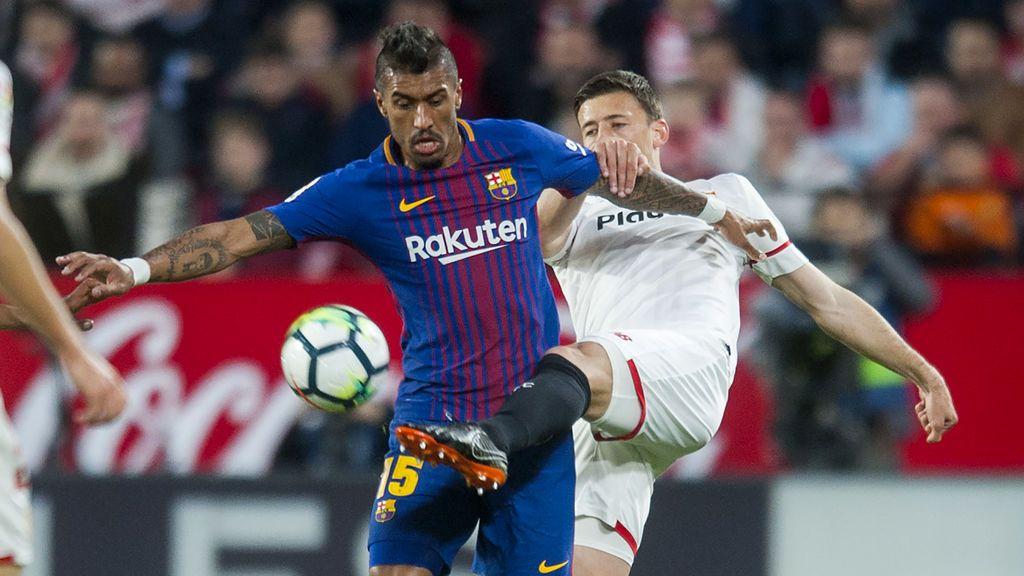 El Barcelona tira de orgullo y agua la fiesta del Sevilla en un suspiro (2-2)