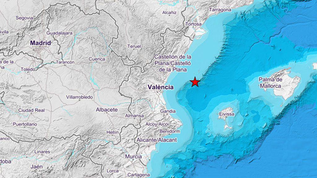 El Golfo de Valencia registra dos terremotos de magnitud 3,3 y 2,6