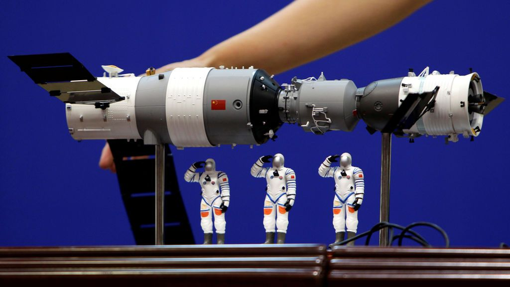 La estación espacial china Tiangong 1 caerá a la tierra este lunes entre las 7 de la mañana y las 3 de la tarde