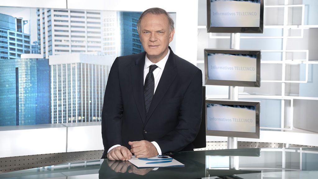 Pedro Piqueras, presentador de 'Informativos Telecinco 21.00'.
