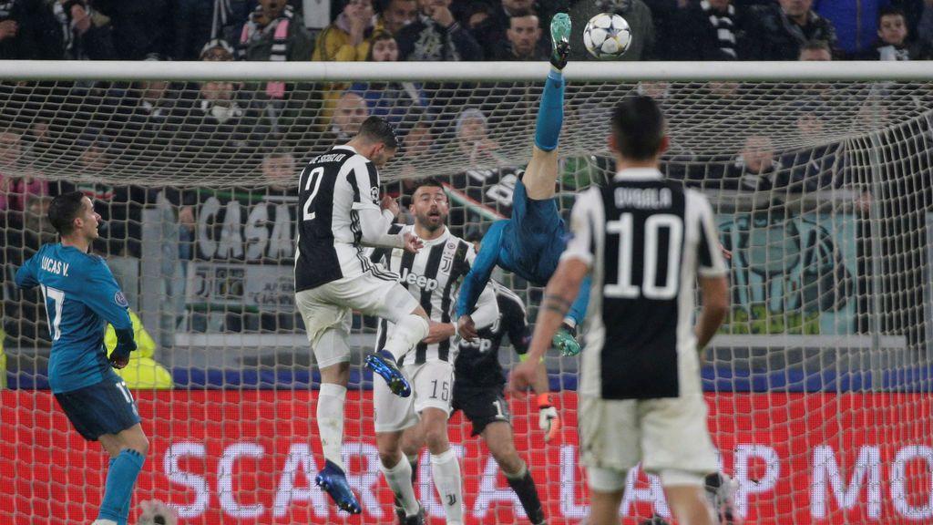 Cristiano marca el golazo de su vida: chilena en Turín para sentenciar la Juventus