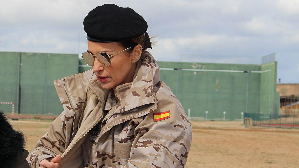 Paula Echevarría, vestida de militar