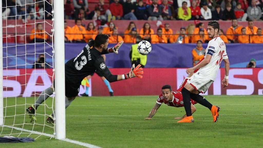 El Sevilla cae con el Bayern y tendrá que remonar en Múnich para pasar a 'semis' de la Champions