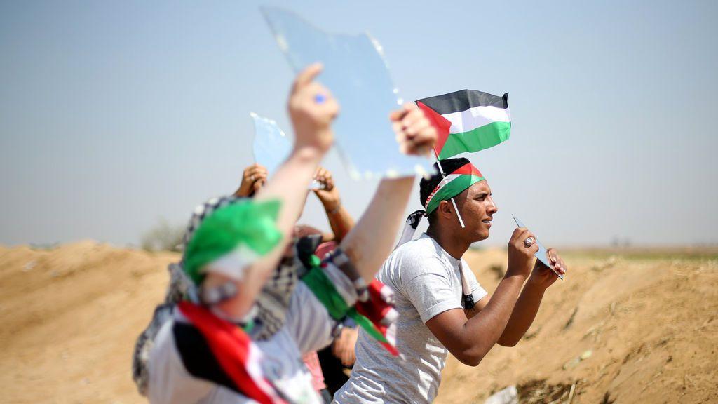 Acciones de activistas en Gaza