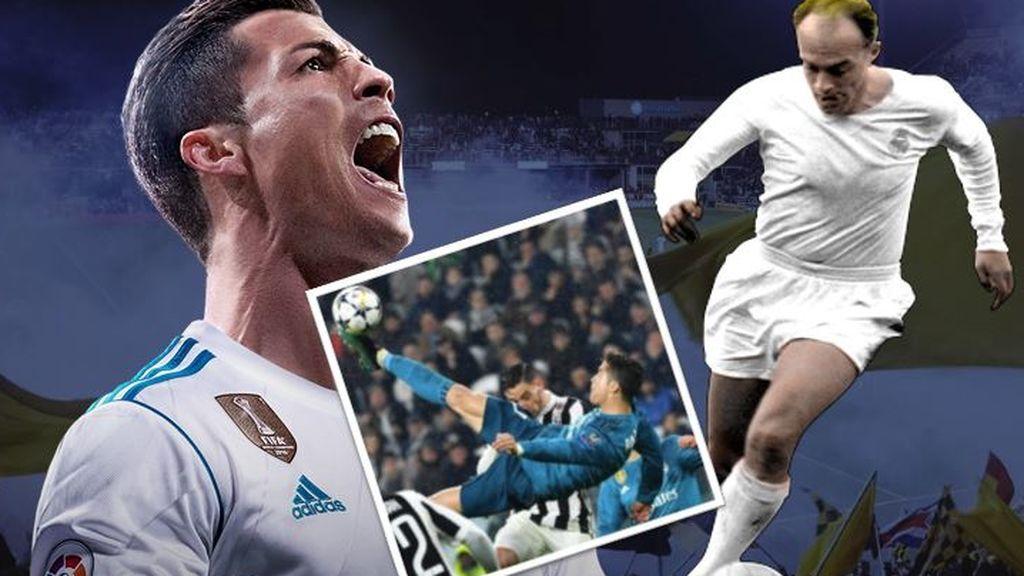 Cristiano Ronaldo o Di Stéfano: la barbaridad del luso en Turín abre el debate sobre quién es el mejor de la historia del Real Madrid