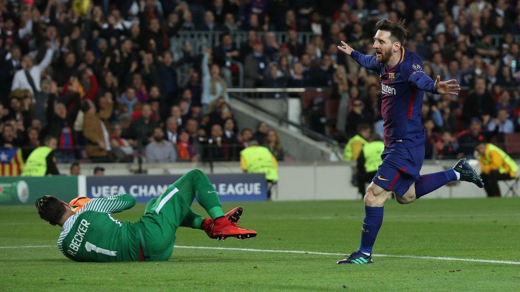 El Barça resuelve ante la Roma (4-1) en la ida de los cuartos de final de la Champions