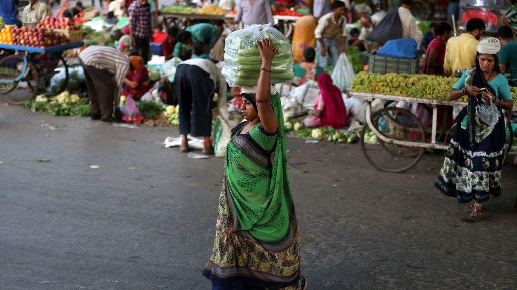 Mercado típico de la India