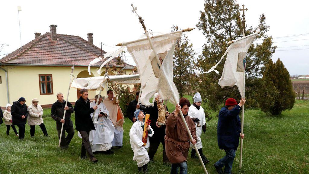 Procesión de Pascua en Hungría