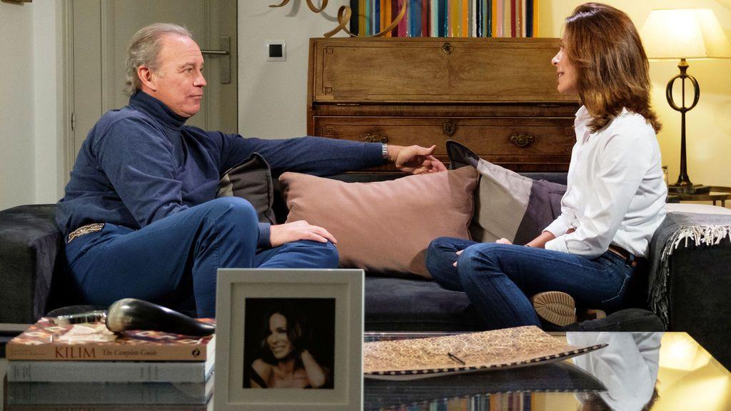 Bertín Osborne entrevista a Lydia Bosch en 'Mi casa es la tuya'.