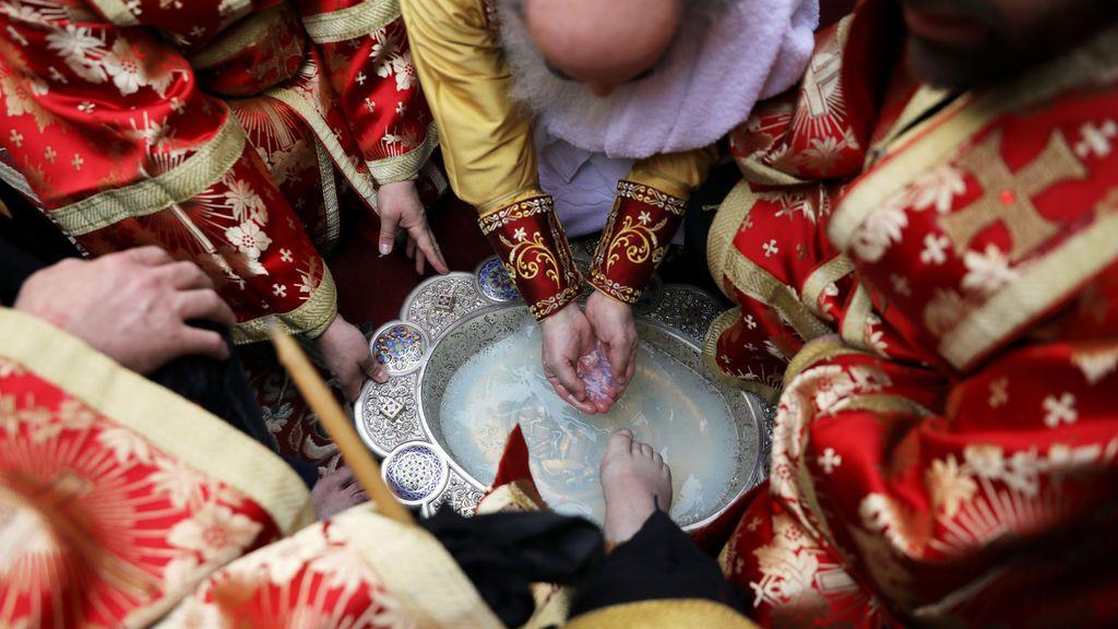 Ceremonia ortodoxa de lavado de pies
