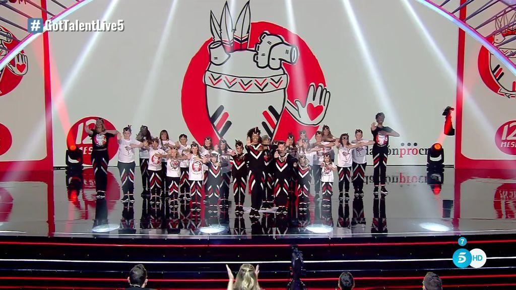 La danza de 'La tribu del corazón', presente en 'Got talent'