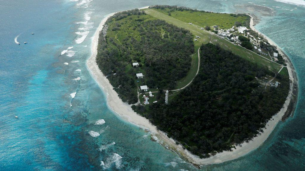 Una vista aérea de Lady Elliot Island