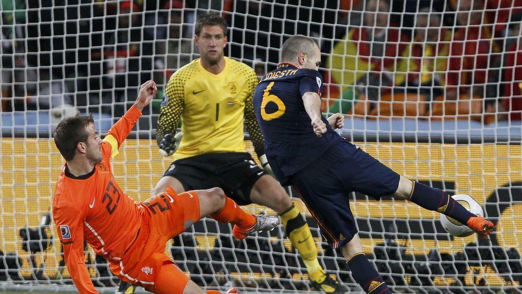 La celebración más loca de Koke, Bartra, Canales, Thiago y Rodrigo el día que Iniesta marcó el gol en la final del Mundial