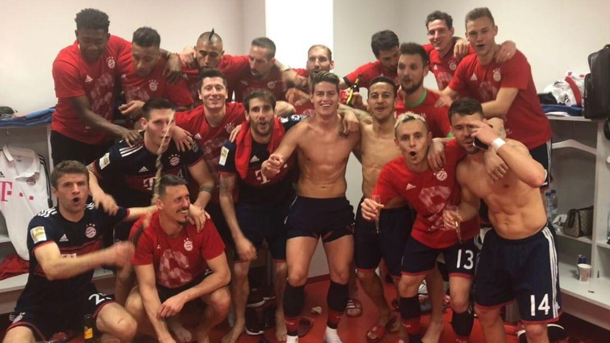 La faceta más española de la celebración del Bayern tras ganar la Bundesliga