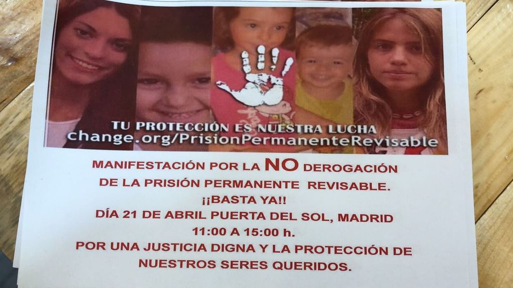 La hermana de Diana Quer impulsa una manifestación en la Puerta del Sol en apoyo a la prisión permanente revisable